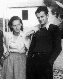 Herta und Romek Reich während ihrer Flucht in Italien, 1943.