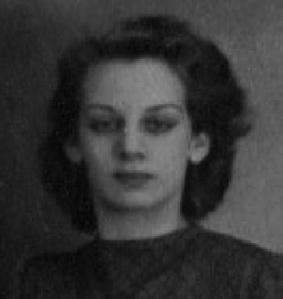 Poldi Schnabl (damals Hirsch), späte 1940er Jahre.